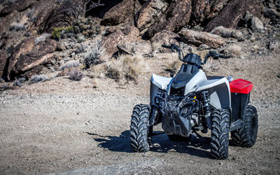 ATV in a canyon